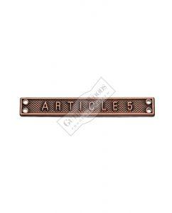 Article 5 - Bar #233-FS